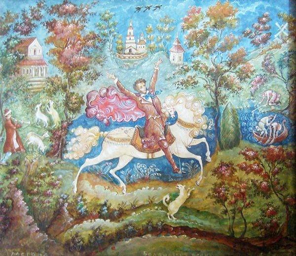 Панно «Болдинская осень»