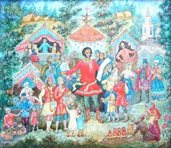 Панно «Пушкин на ярмарке»