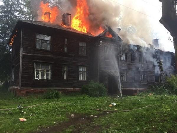 Вязники,пожар,улица Краснофлотская