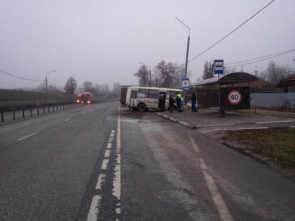 ДТП Петушинский район,М-7,трасса,122 километр,13 ноября 2017 года,грузовик врезался в автобус