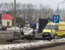 Владимир,Владимирская область,Суздальский проспект,дтп,авария,перевернулся,врезался в столб,4.11.2017 года,4 ноября 2017 года авария,