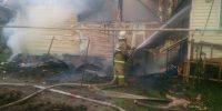 Сгорел частный жилой дом