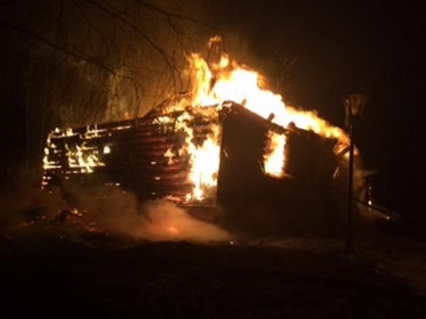 пожар,сгорел дом,Вязниковский район,Порзамка,8 декабря 2017 года,08.12.2017,