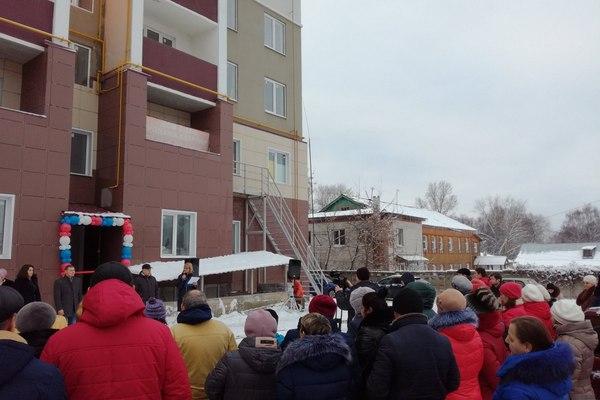 Вязники,улица Ленина 12,вручение ключей от жилья,21 декабря 2017 года,