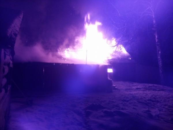 15 января 2018 года,пожар,Сергеево,Вязниковский район,улица Ткацкая,горели хозяйственный постройки,