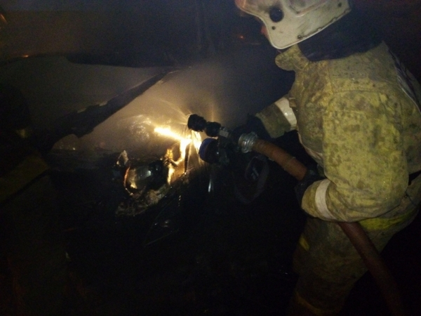Вязники,улица Комсомольская,пожар,сгорела машина,сгорел автомобиль,18 января 2018 года,