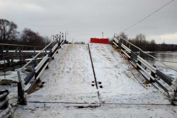 Вязники,зимний разлив,зимнее половодье,мост через Клязьму,