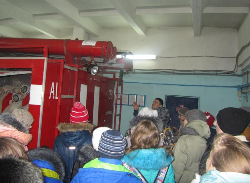 Дети смогли лично включить пожарную сирену