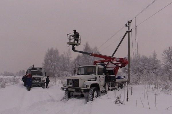 восстановление электроснабжения во Владимирской области,
