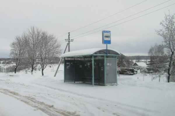 автобусная остановка,