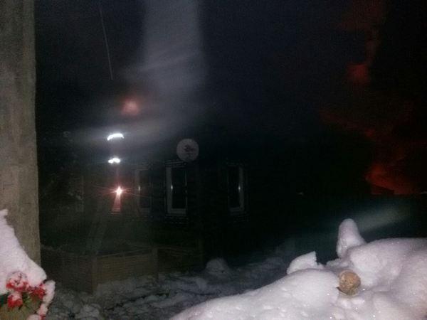 8 февраля 2018 года,пожар,улица Ленинградская,посёлок МСтёра,Вязниковский район,Владимирская область,сгорел дом,