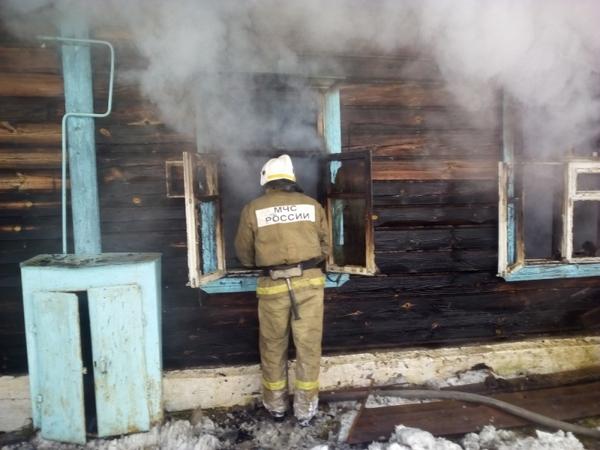 7 февраля 2018 года,пожар в 4-х квартирном доме,Владимирская область,Вязниковский район,поселок Степанцево,улица Почтовая,