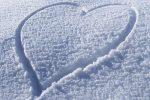 снег,сердце на снегу,14 февраля,