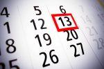 13,тринадцатое,число на календаре,