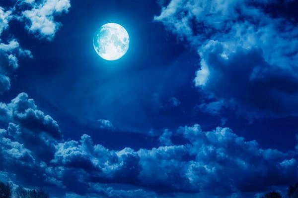 голубая луна,полнолуние,