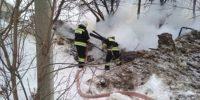 Утренний пожар тушили 6 человек