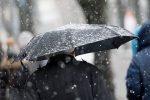 похолодание,весна,зонт,снег,дождь,