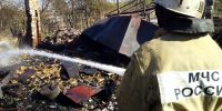 На пожаре погибли хозяин сгоревшего дома и две коровы