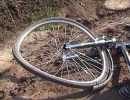 разбитый велосипед,упал с обрыва,