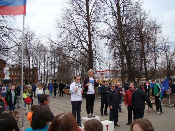 легкоатлетическая эстафета на приз газеты Маяк,Вязники,1 мая 2018 года,