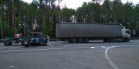 Смертельное столкновение трактора с большегрузом на трассе