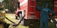 Пожарные эвакуировали детей из оздоровительного лагеря