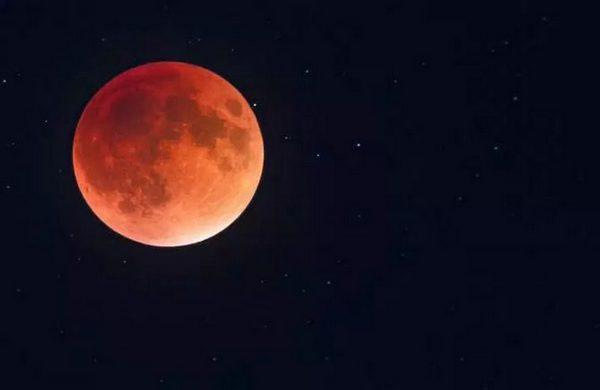полное лунное затмение,
