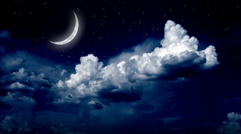 месяцев праздник,Афанасьев день,луна на небе,месяц,ночное небо,