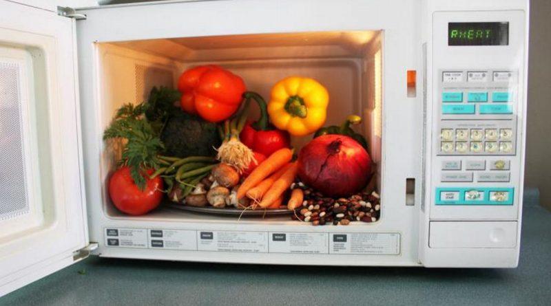 овощи в микроволновке,
