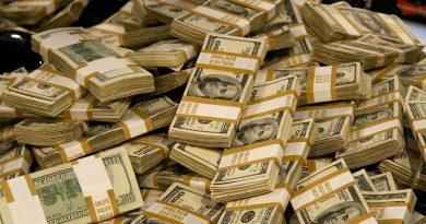 американские доллары,