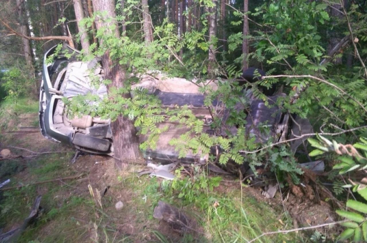 Смертельное ДТП. Легковушка слетела с трассы и врезалась в дерево