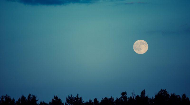 луна,небо,ночь,лето,