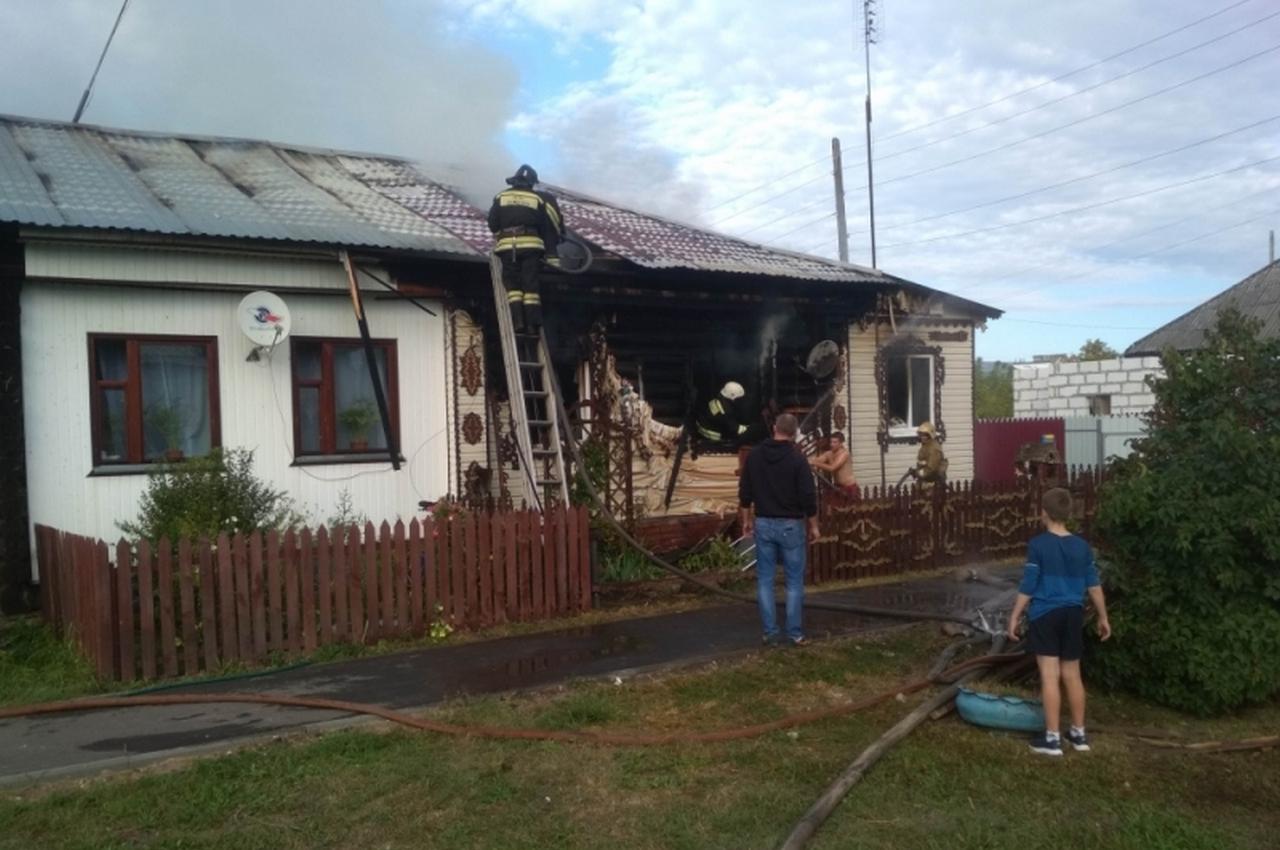 В Гороховце сгорел жилой дом