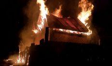 Вечерний пожар в Гороховце